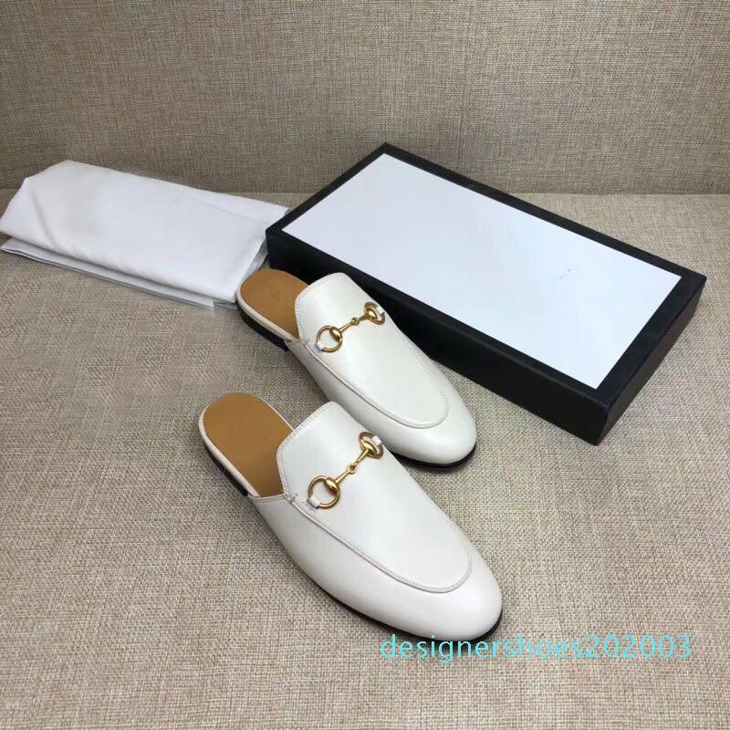 En kaliteli 28 Stiller tasarımcı terlik sandale slayt Katır loafer'lar Gerçek Deri Flats ile Toka kadın tasarımcı sandalet D03