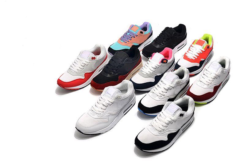 2020 Nike Air max 87 1 one الساخنة الكلاسيكية 1 واحدة من النساء والرجال الاحذية الثلاثي أسود أبيض الرياضة المدرب maxes سادة السطح للتنفس رجال الرياضة أحذية رياضية 36-45