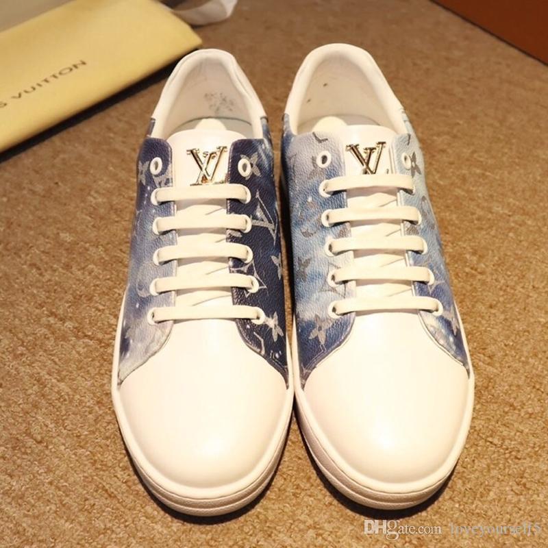 Kutu ücretsiz kargo ile Dana derisi Deri Sneaker Casual ayakkabılar moda Patik basketbol ayakkabıları ile Hava-C11 Fransız marka erkek Lüks ayakkabı