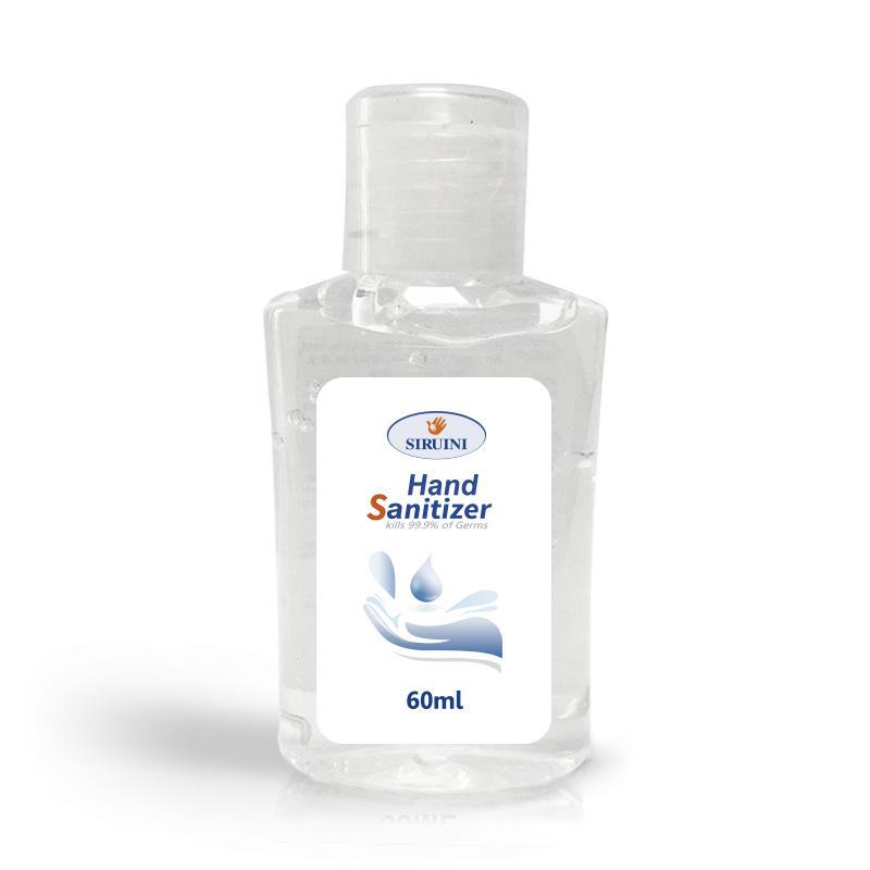 DHL envía 60ML desinfectante de manos antibacteriano lavado de manos con alcohol en gel desechable gel desinfectante de la mano de viaje no Lavado