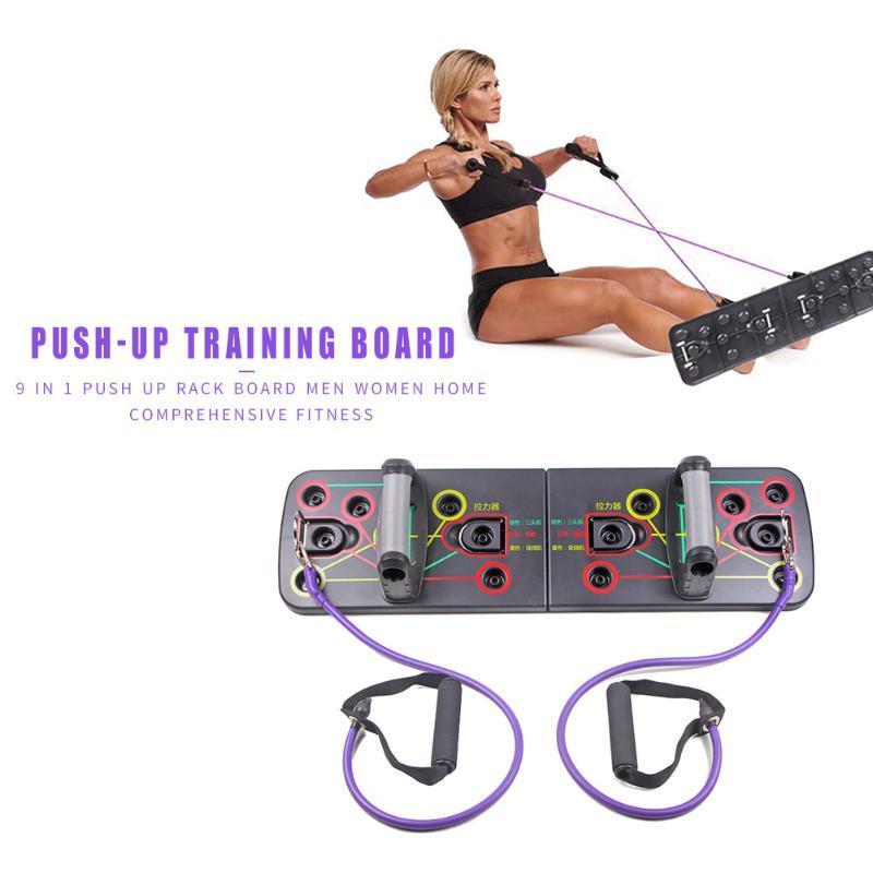 Push-up-Rack-Push-up-Board mit Resistance Bands Gym Heimsport Umfassenden Fitness-Übungs-Sport Bodybuilding Training