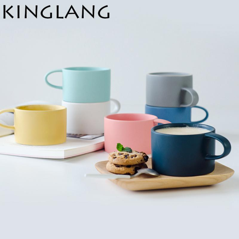 colores macarrones taza de mate sólido taza de café estilo nórdico