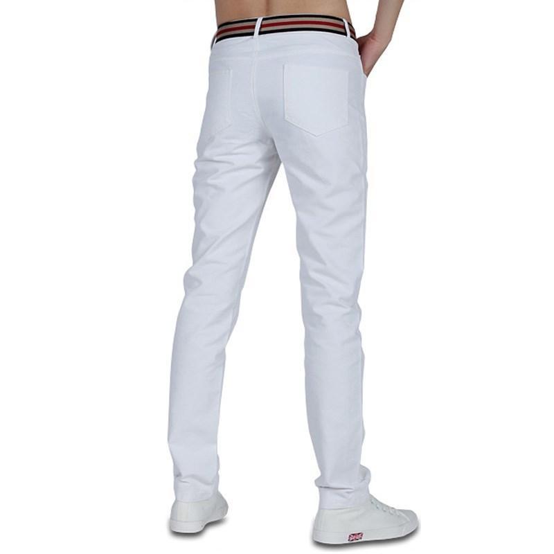 Büyük boy düz renk gündelik düz pantolon, pamuklu kumaş kırışıklık karşıtı çizgili pantolon, iş ince vahşi erkek pantolon