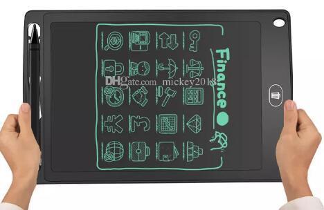 """8.5 """"شاشة LCD لوحة الكتابة بخط اليد لوحة رسم الرسومات الرقمية بلا أوراق المفكرة دعم شاشة واضحة وظيفة دي إتش إل الحرة"""