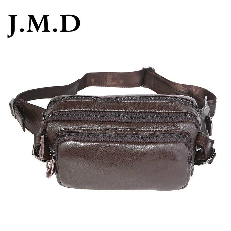 Bolsa de cuero para hombre de JMD. Capa superior de cuero bolsillos simples para hombres retro 7353