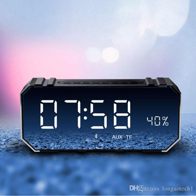 Bluetooth Digital Alarm Clock 10W Bluetooth Wireless Speaker with LED Clock, Lightweight, Big Sound, Bass and Large Dimmable Display