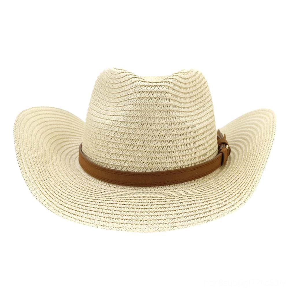 Uwardrobe nuovo modo tesa larga grandi campi paglia donne scavano fuori della spiaggia dei cappelli di Sun Fluff Floppy Cappelli Cappelli Cappelli, Sciarpe Guanti Estate C