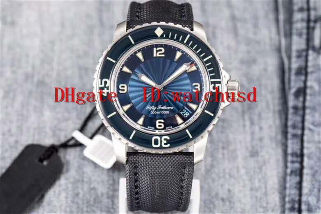 45mm ZF fábrica CINCUENTA FATHOMS relojes de buceo cristal de zafiro de los relojes luminosos hombres de cerámica del bisel de acero inoxidable de pulsera automático