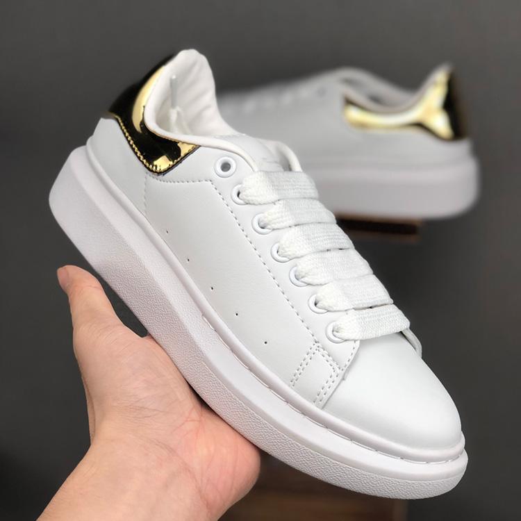 Designer Casual homens negros brancos sapatos de luxo das mulheres Trainers plataforma do partido Moda Calçados Atletismo Altura plana Aumentar Sneakers [com a caixa