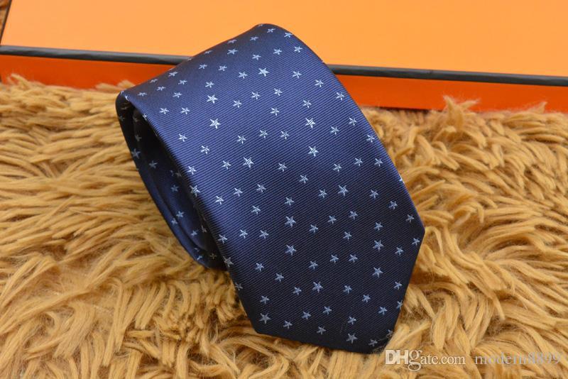 2019 new men's ties brand men's fashion silk tie classic vintage yarn-dyed silk tie gift box men's tie 18 style H816