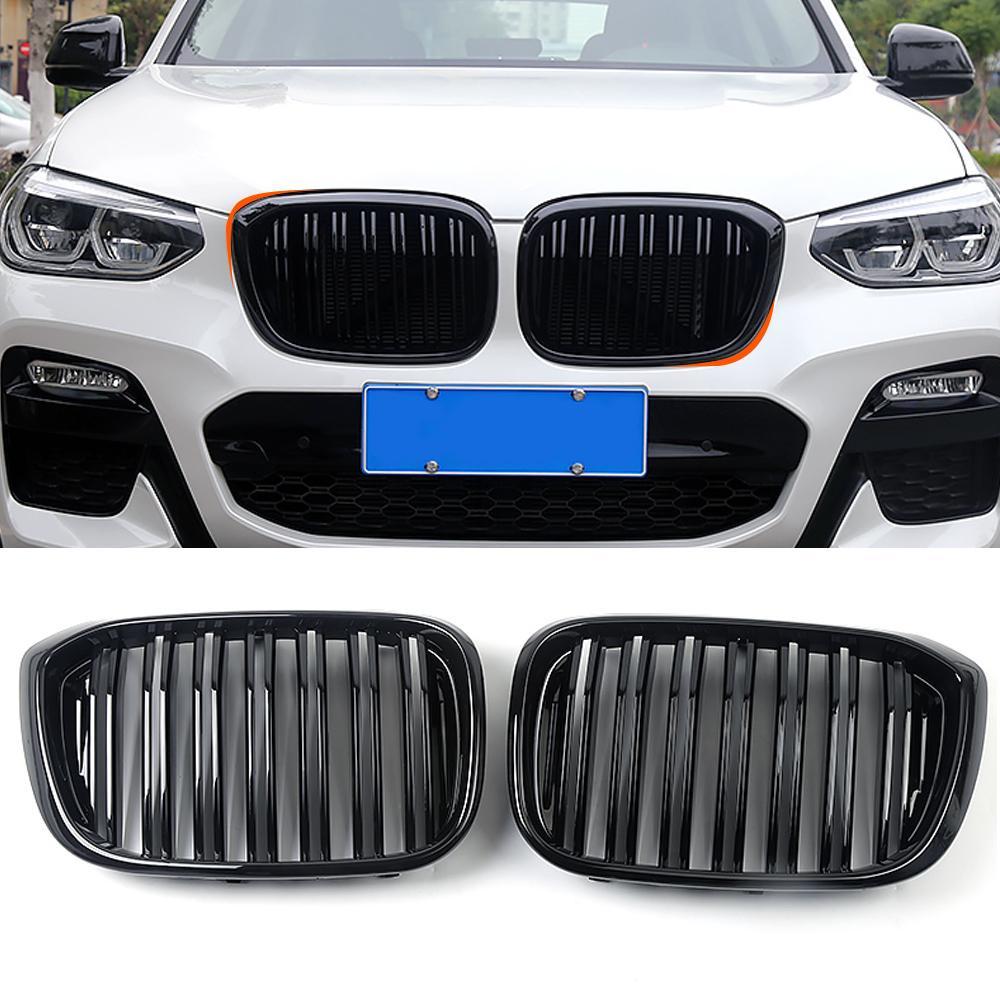 Accessoires voiture avant Racing Grille Moyen net Grills cadre noir de l'Assemblée pour BMW Pièces couverture X3 G01 X4 G02 2018-2020