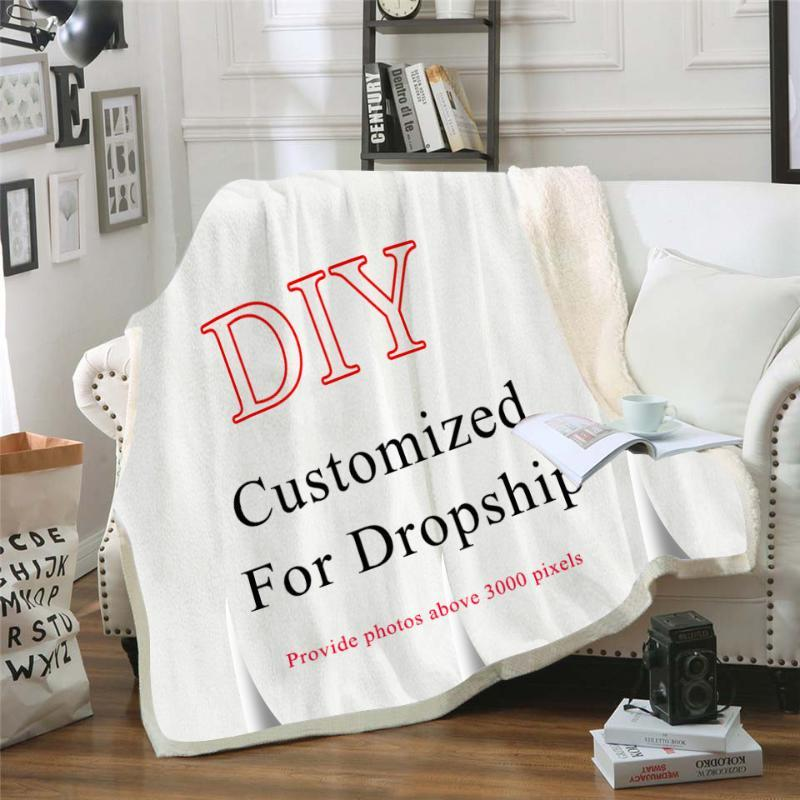 Personalizado Lance Sherpa Blanket Plush Cobertores personalizado impressão on Demand Sherpa Blanket para camas Drop Shipping
