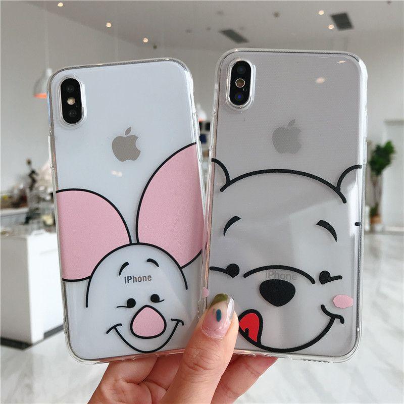 Cartoon Cute Coque Soft TPU Cases For iPhone XR For iPhone X XS Max 5 5S S SE 4 4S 8 7 5C 6 6S Plus 11 Pro Max Case Fundas Cover