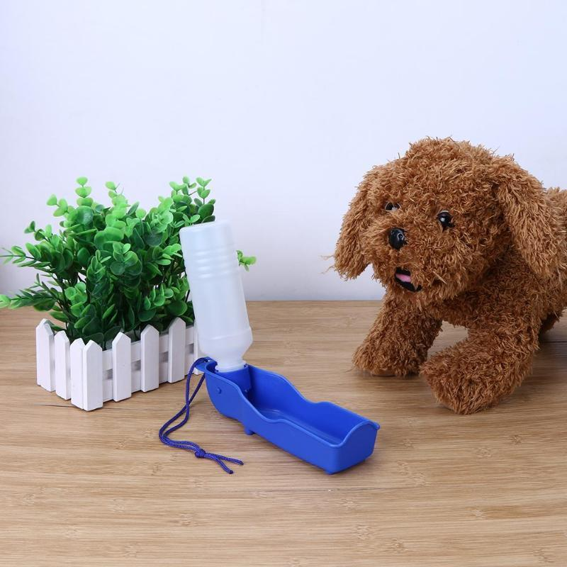 250ml Pet Dog Water Bottle Pet Outdoors Portable Tool Sport Water Bottle Dog Drinking Fountain Plastic Travel Dogs Water Bottles