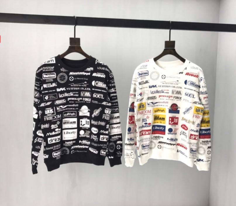 2020 femmes des nouveaux hommes Sweatershirts Lettre Imprimé Pull Casual Top qualité-vêtement Chandails Printemps Automne entier colth Imprimer QS B104522V