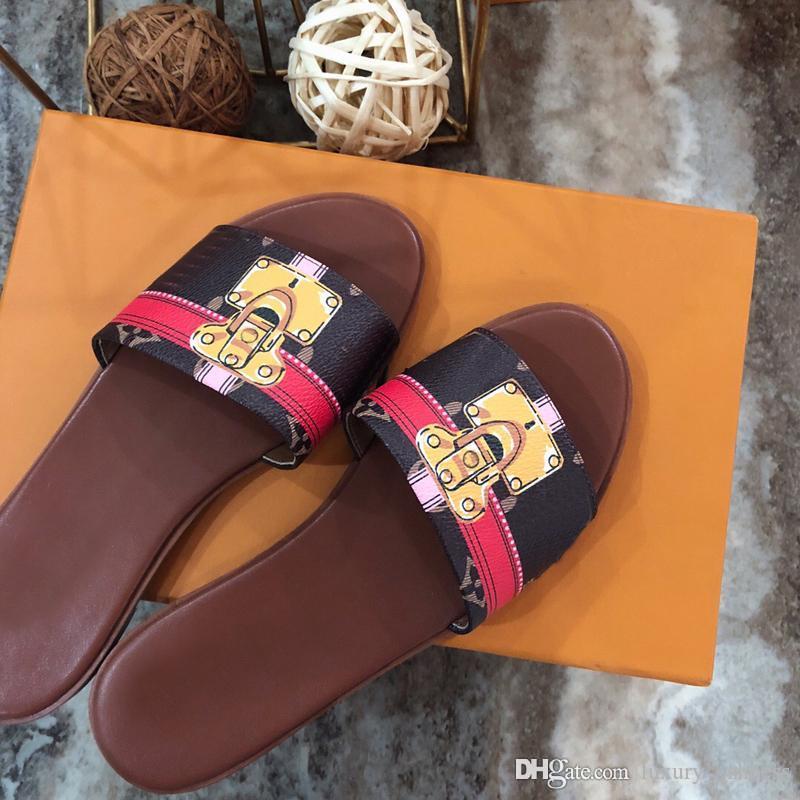2019 fashion women designer sandals slippers designer flip flops women sandals designer womens shoes size 4.5-9.5 -53