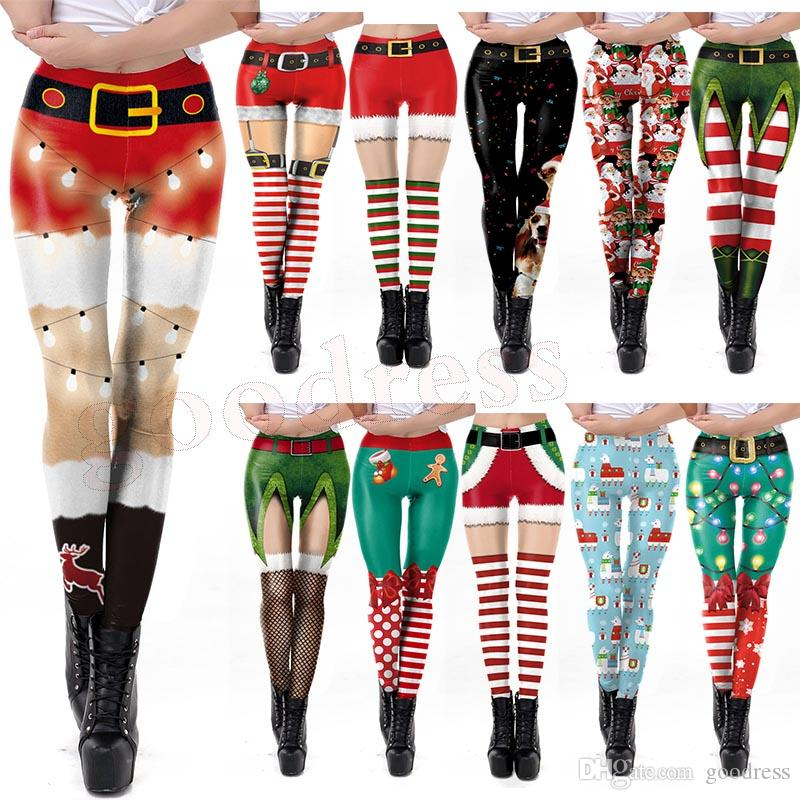 22 styles Women Christmas Costumes Leggings 3D Printed Cartoon Sexy Feet Tight Trousers Leggings for Game Anime Cosplay Yoga Pants clothing