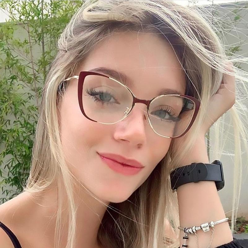 2019 New Vintage Eyeglasses Frame Women Clear Lens Cat Eye Glasses Frame Women Optical Spectacle Frames Sexy Eyewear
