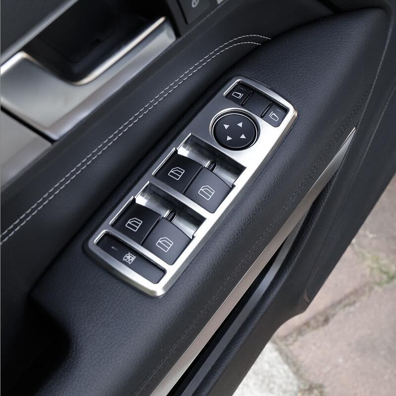 Для Mercedes Benz E Class Coupe W207 C207 2009-2016 Внутренняя отделка Автоаксессуары Левая рука привода Выключатель стеклоподъемника Кнопка стикеров крышки рамы