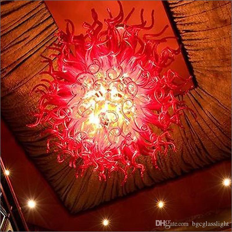 Arañas de cristal de la boca Lámparas Lámparas Alojamientos Hecho a mano Galss Cadena colgante Chandelier para el lobby del hotel Decoración