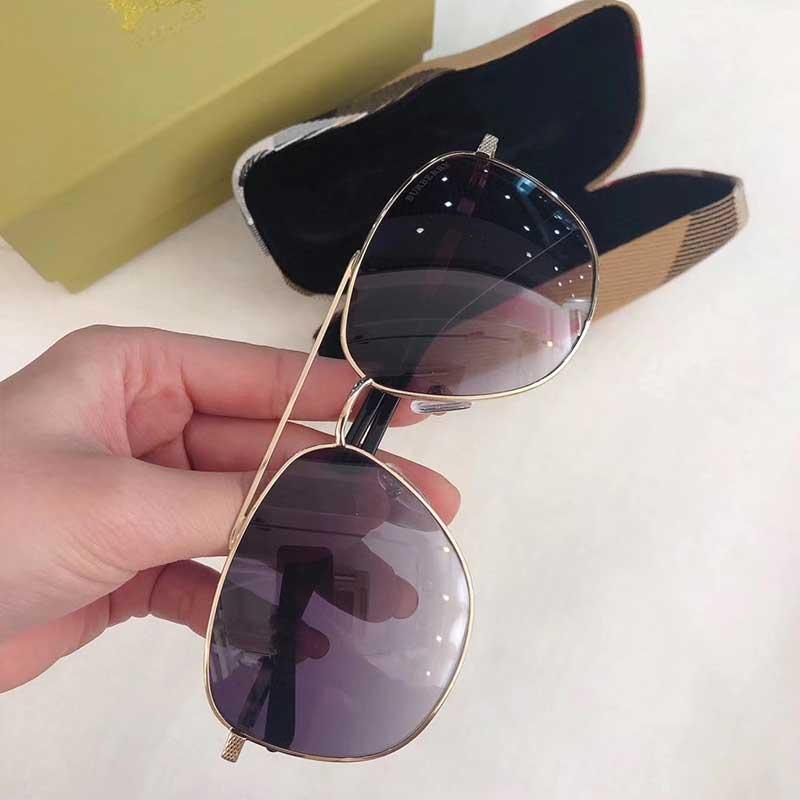 Britânico piloto designer de marca óculos de sol de qualidade personalidade pequena pernas do templo correspondência logotipo cor UV400 proteção radiação topo 7201
