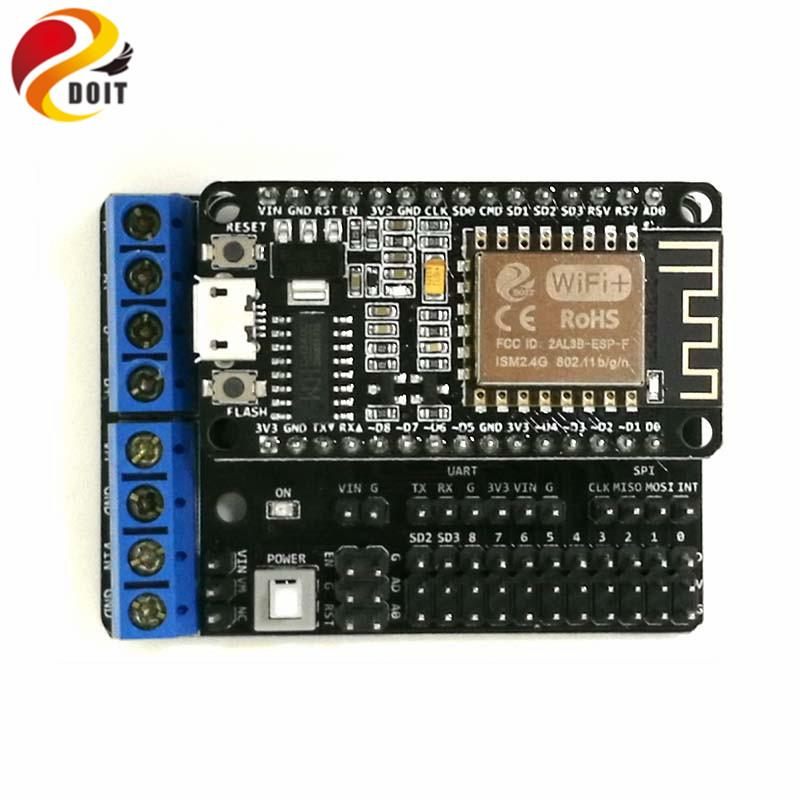 Nodemcu ESP8266 Geliştirme Kiti DIY RC Oyuncak dayalı Android ve iOS Telefonla Kontrollü RC kiti T200 Kablosuz Tank Şasi