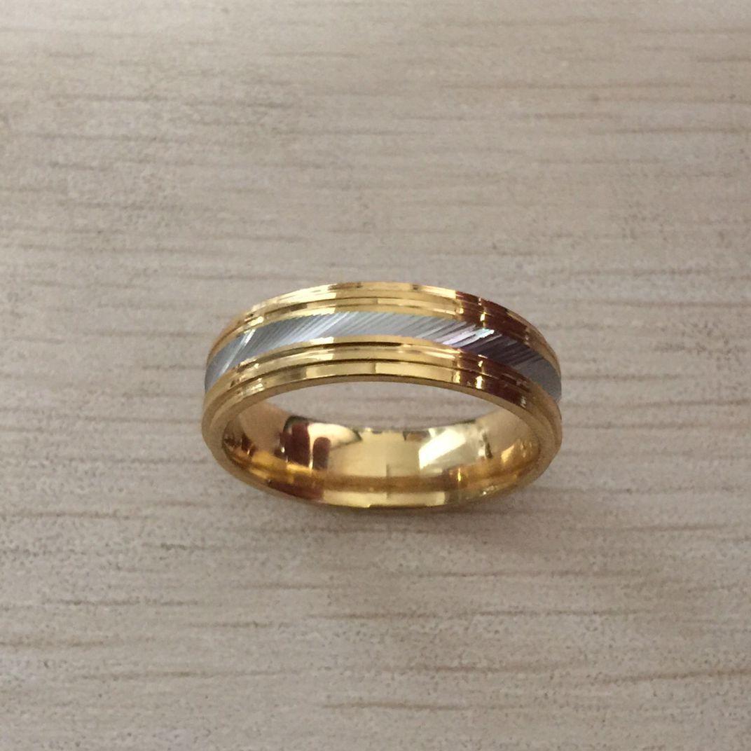 2020 plata de 18 quilates de oro lleno de anillo de acero inoxidable 316L muchacho de los hombres de la boda del partido de compromiso de diamantes anillo para las mujeres de las muchachas de los amantes al por mayor