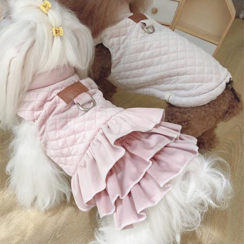 Kış Yavru Köpek Giyim Pembe Pet Coat ceketler Küçük Hayvan Pamuk kıyafetleri Kedi Ürünleri için sıcak Yorkshire Fransız Bulldog Dachshund