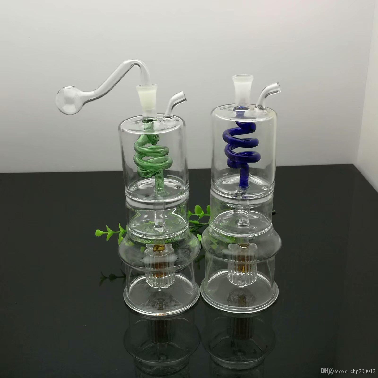 Классический двухслойной перегородка пан шелк молчит фильтр сигареты стекла чайник Большой Пирекс стекло масло горелка Труба густого масло станки стекло водопровод