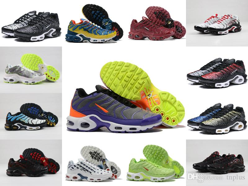 2019 New Air Tn Plus Shoes Fashion Men's Breathable Mesh Tn RunninG ShoEs Cheap Designer Women Tn Chaussures Requin Colorful Sports Sneakers