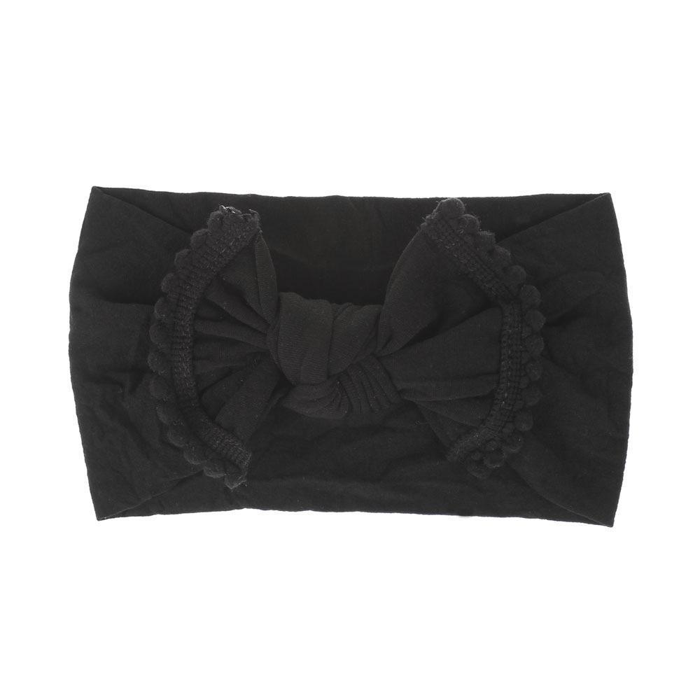 Стильный модный эластичный галстук для волос для новорожденных девочек оптом на заказ неядовитая мягкая детская повязка на голову нейлоновая повязка на голову