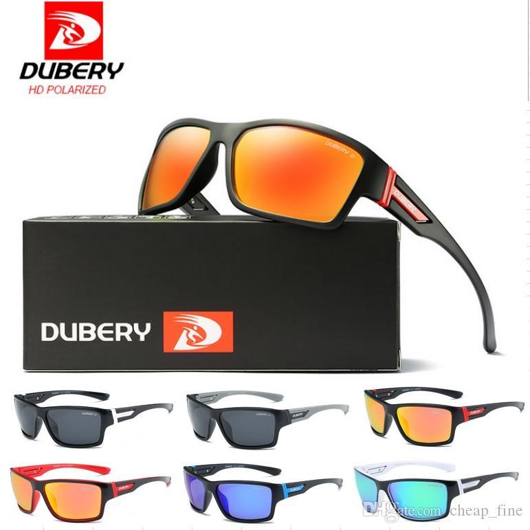 DUBERY polarisierte die treibenden Schatten der Sonnenbrille-Männer männliche Sonnenbrille für Mann-Sicherheitsluxusentwerfer-Sonnenbrille D2071 geben Verschiffen frei