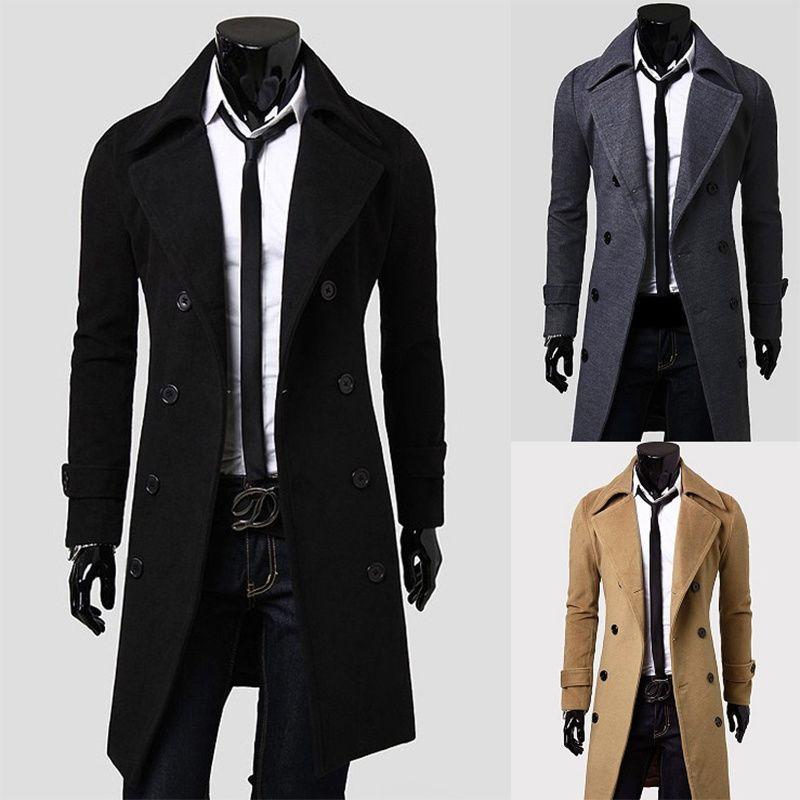 Foso del estilo largo cazadora británica ZOGAA otoño del resorte de capas de foso entalladas hombre solo pecho abrigo sólido de abrigo