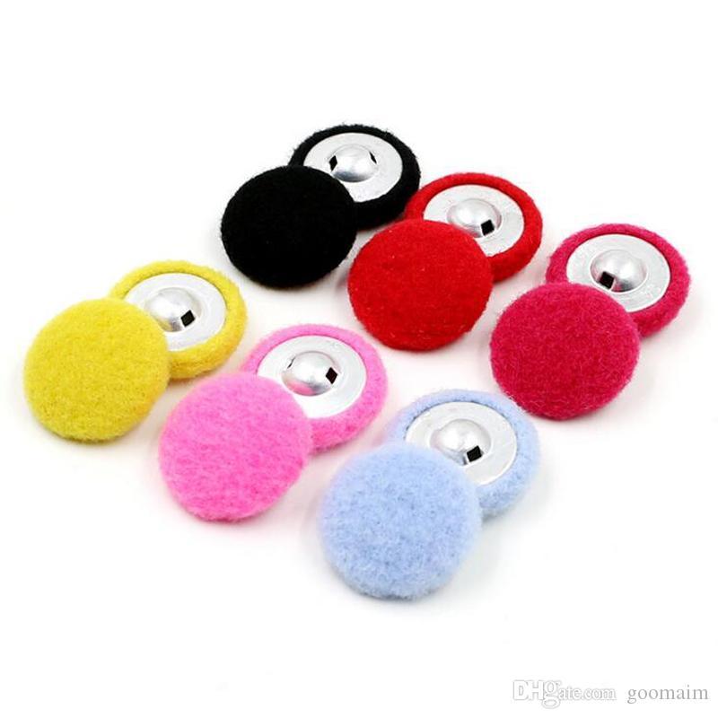 100pcs 20mm de lana de moda abrigo rompevientos botones de la chaqueta de aluminio botones de las mujeres capa interna botones de los niños suéter de terciopelo de coser