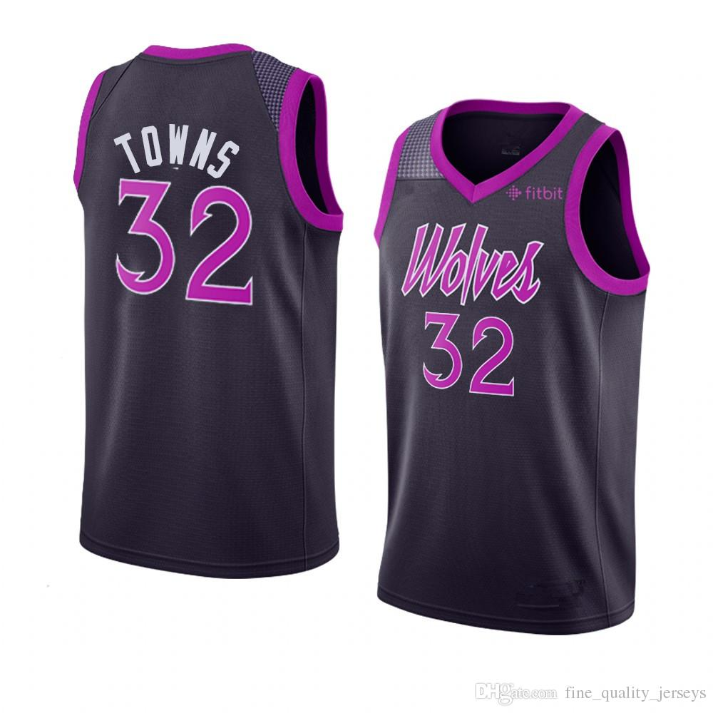 new arrival 7f405 1959c 2019 25 Derrick # Rose Embroidered Minnesota Basketball Jerseys  Timberwolves 32 Karl Anthony # Towns City # Retro From  Fine_quality_jerseys, &Price;   ...