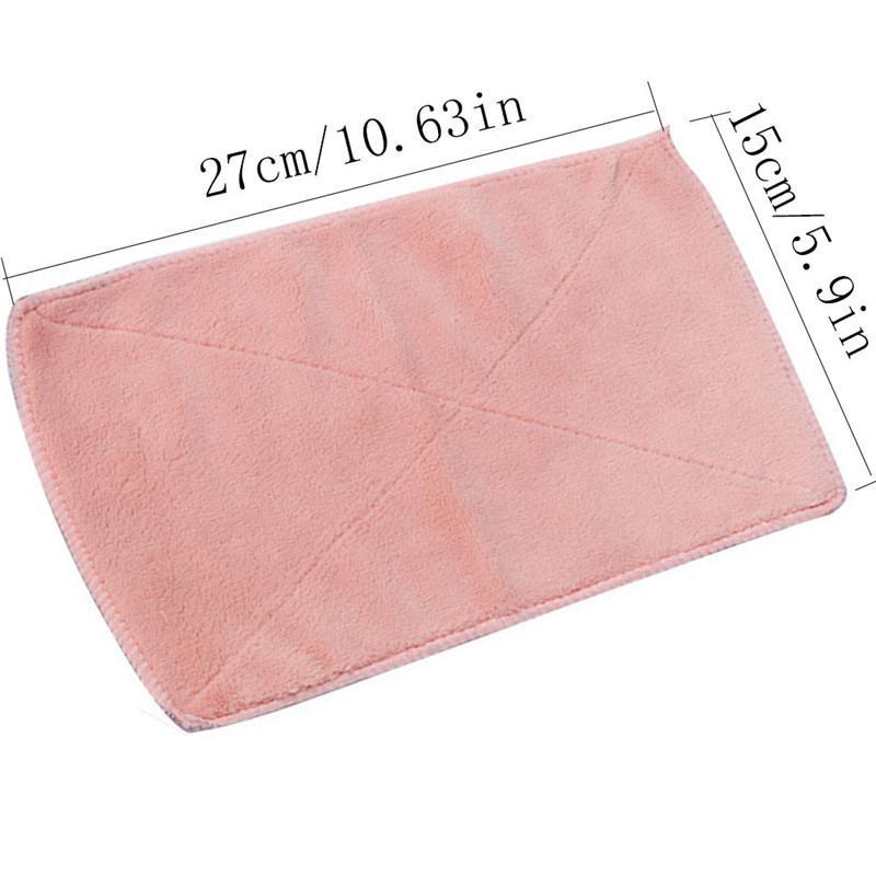 4 couleurs Efficacité de Super Absorbent Cuisine Microfibre vaisselle Tissu double-pont Vaisselle Entretien ménager Torchon Gadgets