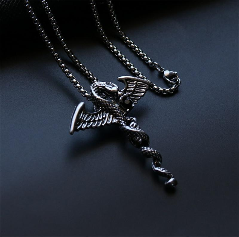 Street Dragon Necklaces Hip Hop Street Dance Men's Pendants Outdoor Nightclub Party Hipster Must Accessories Free Shipping