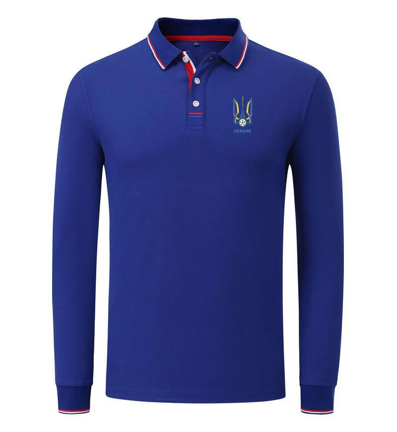 Manica di polo di calcio sport respirabili seria Ukraine della squadra di calcio dei commerci all'ingrosso Personalizza Logo Uomo Casual Wear Golf Sportswear