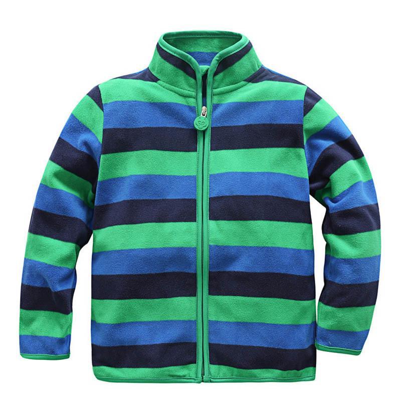 New 2019 Spring Autumn Children Kids Boy Girl Hoodies Baby Boys Stripe Fleece Jackets And Coats Kids Girls Sweatshirt LY191230