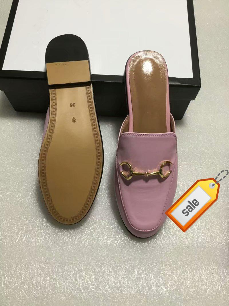 Newprincetown Designer Uomini e donne scarpe classiche scivoloso fibbia in metallo spiaggia pantofole morbide scarpe pigre