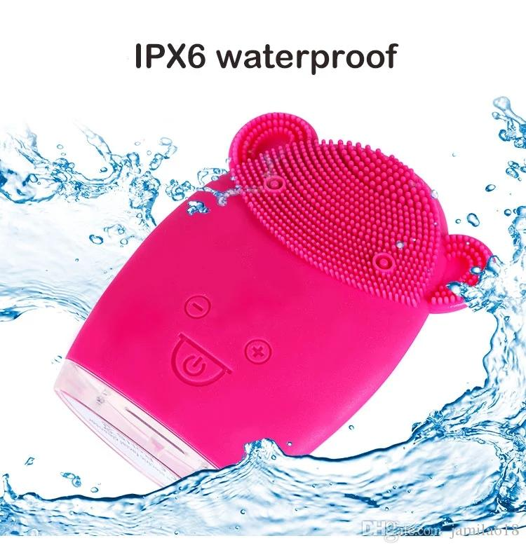 USB Rechargeable Electric 3D Facial Cleaning Cleaner Brush Massage Face Cleansing Brush Deep cleaning pore remover Beauty equipment