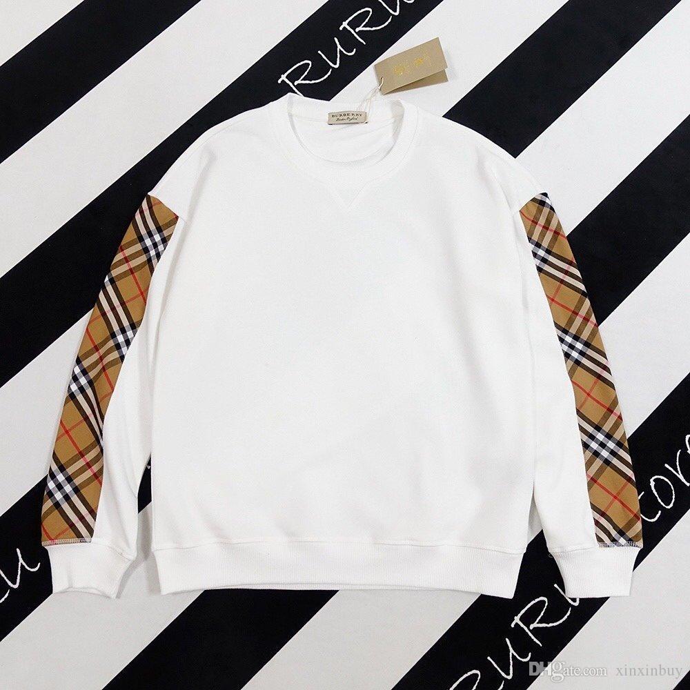2020 أحدث صيحات الموضة للرجال البريطاني أسود أبيض منقوش البلوز الربط كم عالية الجودة تنفس مزيج القطن أعلى بيع الساخنة البلوز