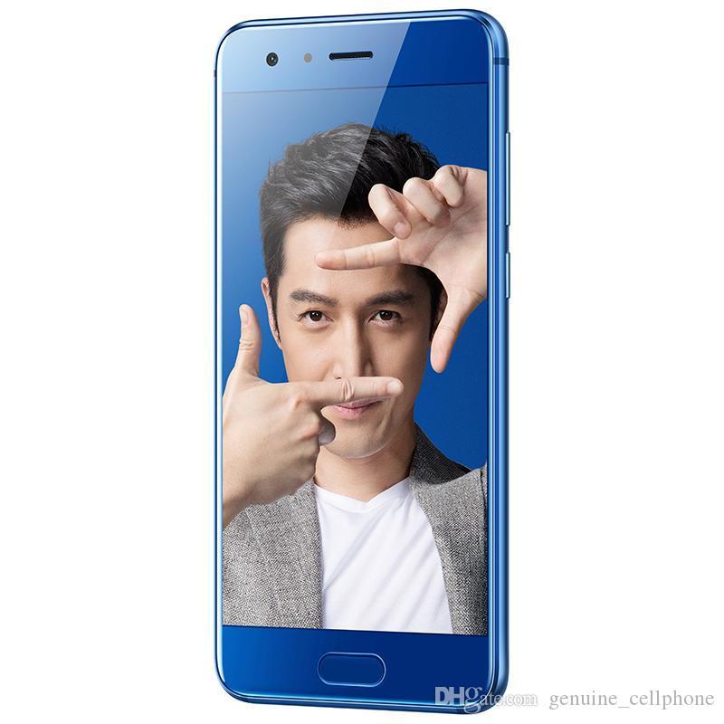 "Оригинал Huawei Honor 9 4G LTE сотового телефон 6GB RAM 64GB 128GB ROM Kirin 960 окт Ядра Android 5,15"" 20.0MP камера отпечатки пальцы ID мобильный телефон"
