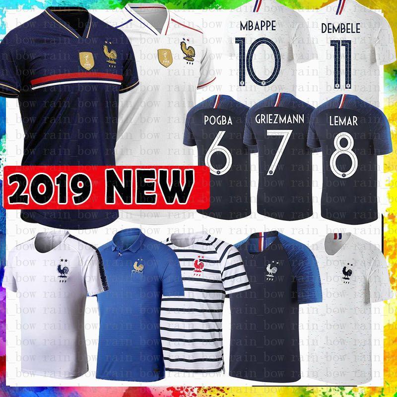 MENS Home 7 GRIEZMANN 10 MBAPPE 6 POGBA Soccer Jersey LEMAR KANTE MARTIAL GIRQVD MENDY football shirt BARANE SIDIBE TOLISSO Maillots de foot