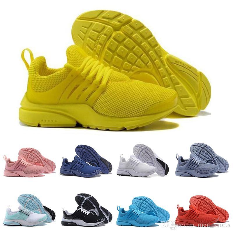 Классический Presto BR QS женские мужские кроссовки тройной белый черный дышать жадный Oreo желтый красный синий дешевые кроссовки спорт 36-45