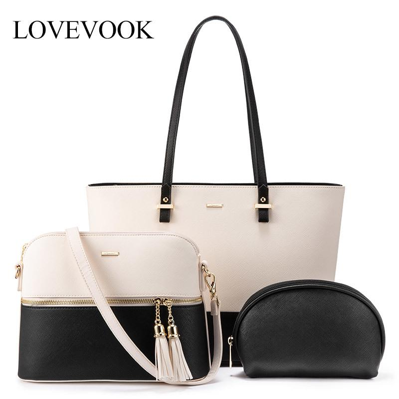 LOVEVOOK women shoulder bags crossbody bags for ladies large tote bag set 3 pcs clutch and purse luxury handbag women designer CX200622