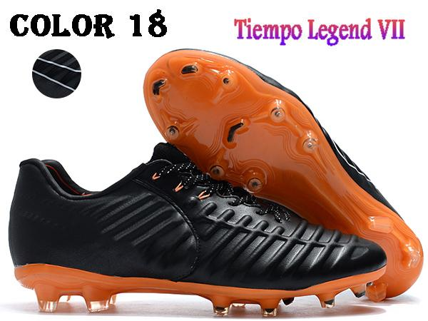 sneakers for cheap 139c7 7b85d AA 2019 Men Low Ankle Football Boots Tiempo Legend VII FG Soccer Shoes  Tiempo Totti X Roma Legend VII Outdoor Soccer Cleats Boys Tennis Shoes Sale  ...