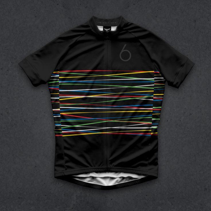 Hommes d'été double Six 6 cyclisme maillot manches courtes vélo Vêtements Vtt Ropa Racing Vêtements de vélo tops seulement
