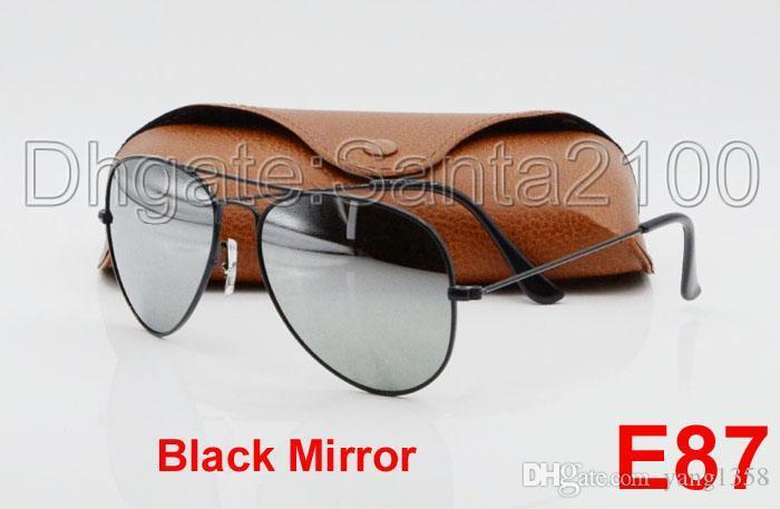 Wholesale High Quality Classic Aviator Sunglasses Designer Brand Men Women Women Sunglasses Gold Metal Green 58mm 62mm Glass Lens Brown Case