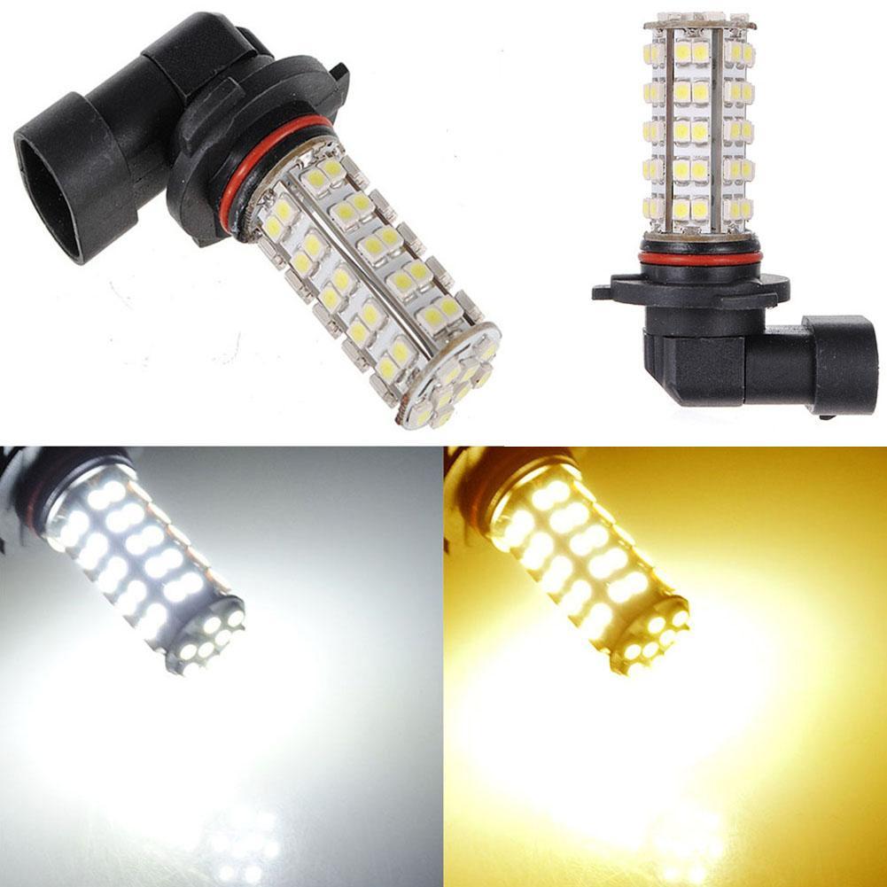 Nueva HB3 9005 68 SMD LED LED de alta potencia ultra brillante de niebla del coche de la lámpara de la luz 12V luz blanca Amarillo